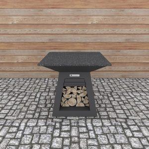 Тъмно Сива Помощна Маса Quadro Table Carbon