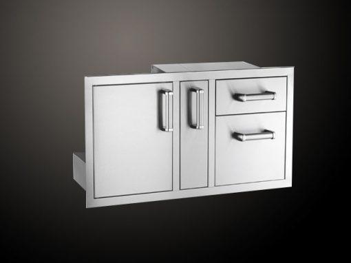 Модул за Вграждане с Врата за Плочи Шкаф и 2 Чекмеджета