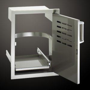 Единична Врата с Поставка за Кош за Боклук