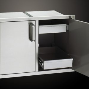 Модул за Вграждане с Шкаф и Врата с 2 Скрити Чекмеджета