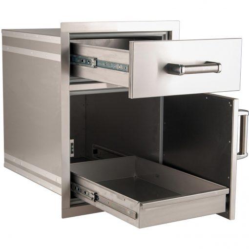 Модул за Вграждане с Чекмедже и Врата със Скрито Чекмедже/ Flush Mounted Medium Pantry Door with Dual Drawers