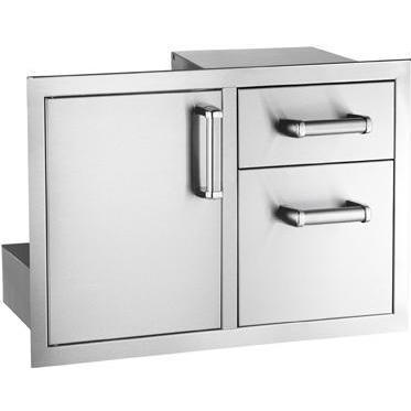 Размери: в - 520 мм. х ш - 365 мм. х д - 520 мм. СтилеМодул за Вграждане с Единична Врата с Поставка за Контейнер за Смет и 2 Чекмеджета Single Access Door with Double Drawer