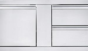 Външен Шкаф за Вграждане с Врата и 2 Чекмеджета
