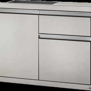 Малък Модул за Вграждане с Врата и Чекмеджета за Съхранение и Кошче
